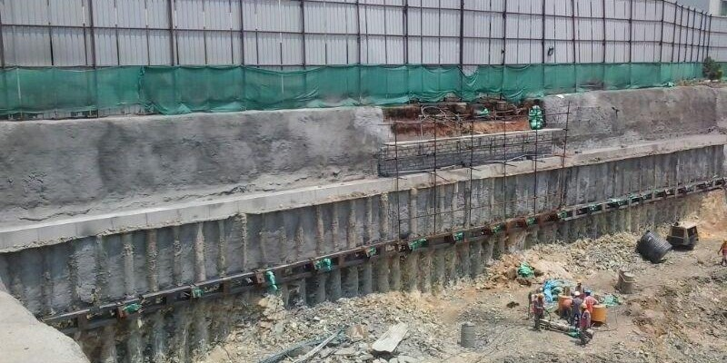 Contiguous Pile Foundation Work Is Executed By Spar Geo