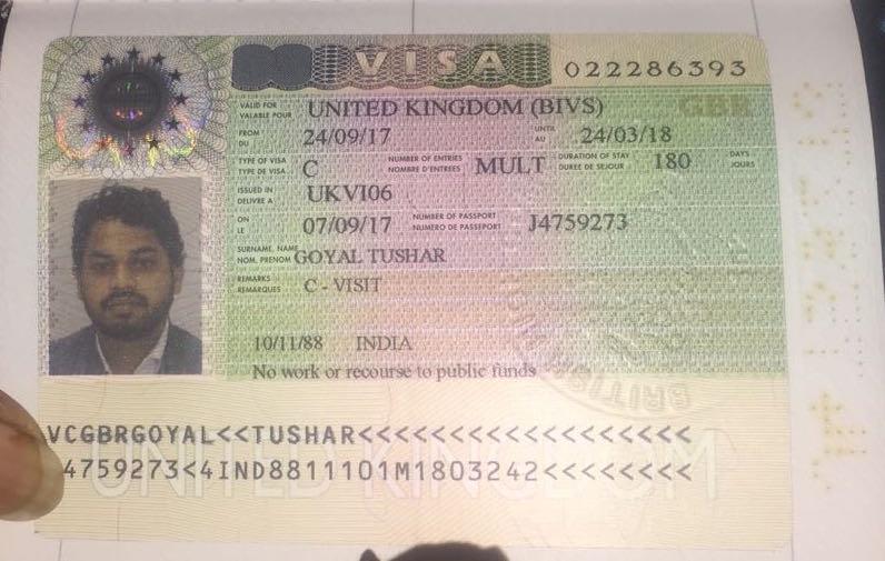 Tushar Goyal UK Visa
