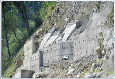 Slope Protection – Anchored Wall at Madhya Bharath HEP, Sikkim