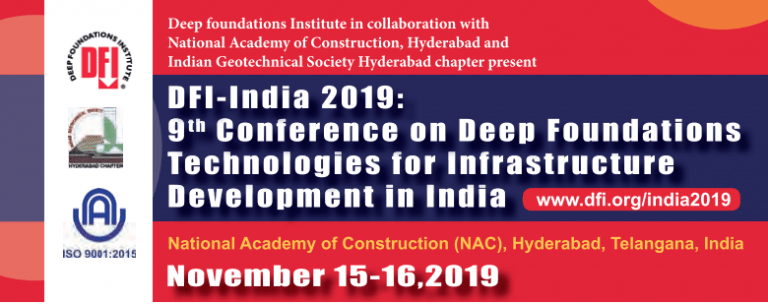 Conference on Deep Foundation Technologies for infrastructure development in India